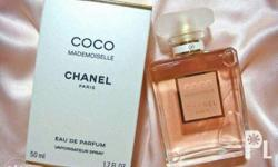Free shipping, on hand coco chanel mademoiselle perfume