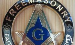 Freemason car emblem Thick metal base Water proof Looks