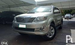 FRESH 2013 Toyota Fortuner 4X2 G DSL AT montero crv