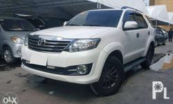 2015 Toyota Fortuner 4X2 G Gas AT 1st Owner! Mileage