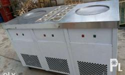 Double pan double compressor ice cream machine by order