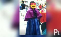 ANNA COSTUME- used once...for 8-12 yrs old.. - 800 ELSA