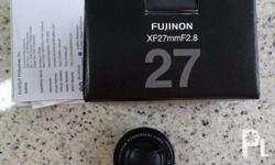 Fujifilm XF 27mm f/2.8 Lens (Black) Used twice only.