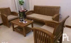 Our furnitures are made out of hardwood pieces [Narra,