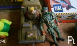 2pcs. g.i. joe action figure toys. 1 with vehicle with