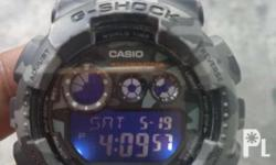 g shock GD-120CM limited edition gray face good
