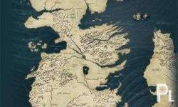 Brand New Game of Thrones Westeros Map Poster (bought