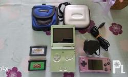 For sale Gameboy lot with freebies -gameboy advance sp