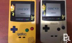 2 Gameboy color pokemon limited edition With 4 games