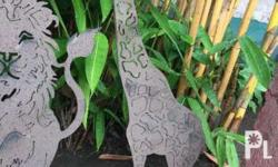 Garden Decor/Accent Animal Silhouette Made of Rustic
