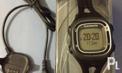 Used garmin forerunner 10 With box and charger In very