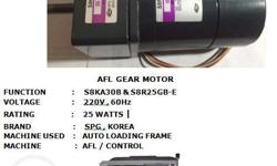 AFL GEAR MOTOR FUNCTION: S8KA30B and S8R25GB-E VOLTAGE: