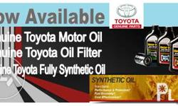 Genuine and Fully Synthetic Toyota and Zic Oils