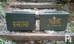FREE DELIVERY!* Selling two 50 cal ammo boxes Php 1,399
