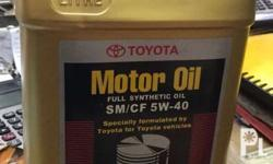 Genuine Toyota fully synthetic oil SAE 5w-40 For