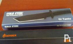 Gerber StrongArm made in USA and Cold Steel G.I. tanto