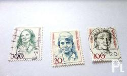 Germany stamps featuring 3 different persons. Other