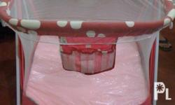 Giant Carrier Baby Crib Color: Pink and Red