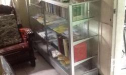 Slightly used glass shelving. Perfect for Bakeries,