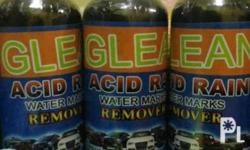 Glean acid rain remover with microfiber cloth �»Works