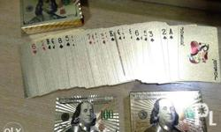 For sale Rare 24k Gold Plated playing cards for only