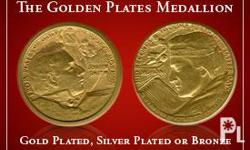 The Golden Plates Medallion is the creation of designer