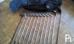 Complete set of Ryder Cup golf clubs with bag
