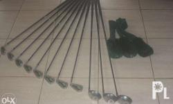 Complete club set 3 drivers and 9 clubs Brand Apron,