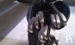 Golf clubs and bag for sale. Driver head is damage and