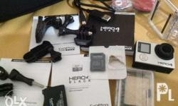 Good as new GoPro Hero 4 Black Complete accessories