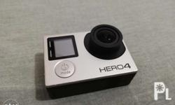GoPro Hero 4 Silver Edition. Comes with 4 batteries and