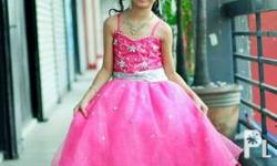 Customized barbie gown for sale. Used once for my