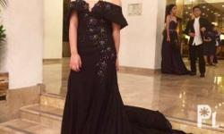For rent Standout with this elegant black gown. Used