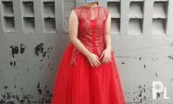 Elegant red gown for rent Practical and value for your