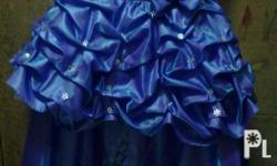 Blue violet gown with petticoar,,,two in one gown.,,