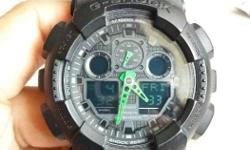 gshock dark knight green hand for sale 8/10 condition