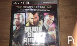 For sale/trade gta4 complete for ps3 Complete edition