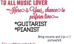 To all music lover. Here is your chance to perform
