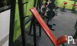 Incline chest press w/long bar. Price negotiable. Rfs: