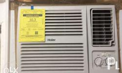 1 HP Haier Window type Air conditioner. Slightly used.