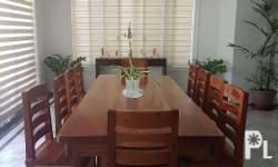Beautidul hand carved large mahogany dining table with