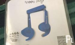Happy Plugs Sport Earphones with Remote and Mic (Blue)