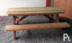 This bench/table was made about 6 month ago, entirely