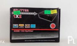 HDMI X2 Splitter Ideal for expanding viewing using HDMI