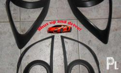 Headlight and Tail light Matte Black Cover Set for