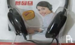 2 units Genius PC headset. Single jack, can be used for