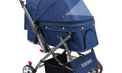 Dodopet heavy duty dog stroller Color: Blue 4 wheels