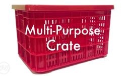 Food Grade Plastic Crate for Heavy Duty Purposes like;