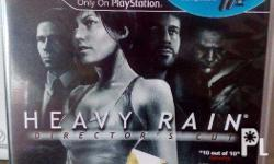 heavy rain for Ps3.. scratchless.. the manual is to be