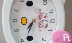 Hello Kitty wall clock. Almost brand new. Cute